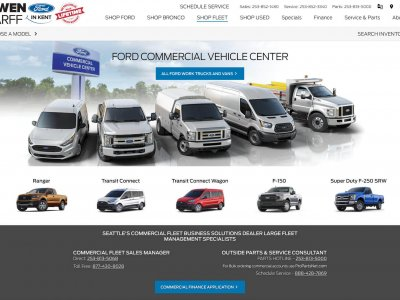 Strona Ford Commercial Vehicle Center website screenshot